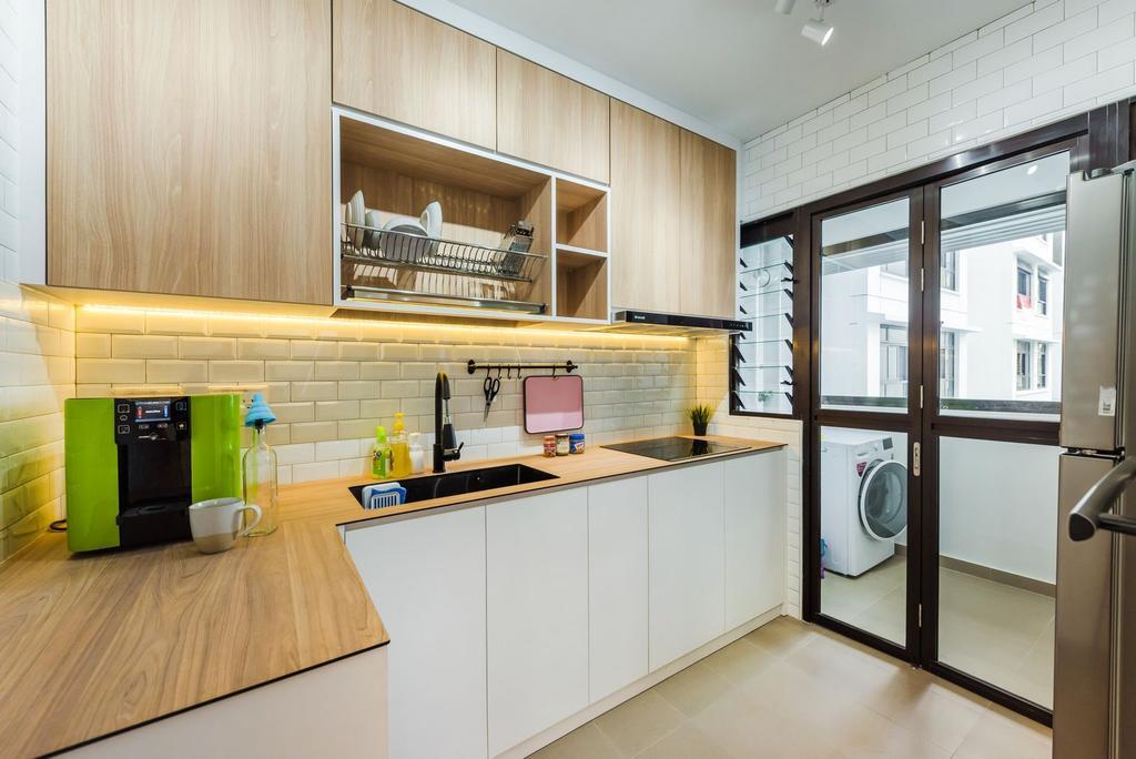 Scandinavian, HDB, Kitchen, Tampines North Drive 1, Interior Designer, Archive Design, Contemporary