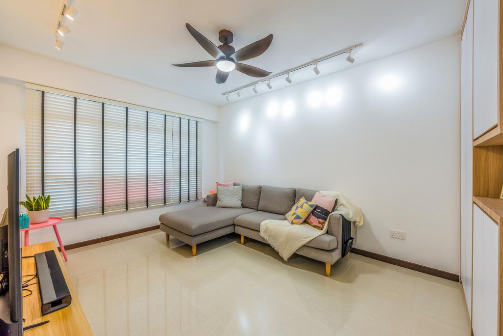 Scandinavian, HDB, Living Room, Tampines North Drive 1, Interior Designer, Archive Design, Contemporary