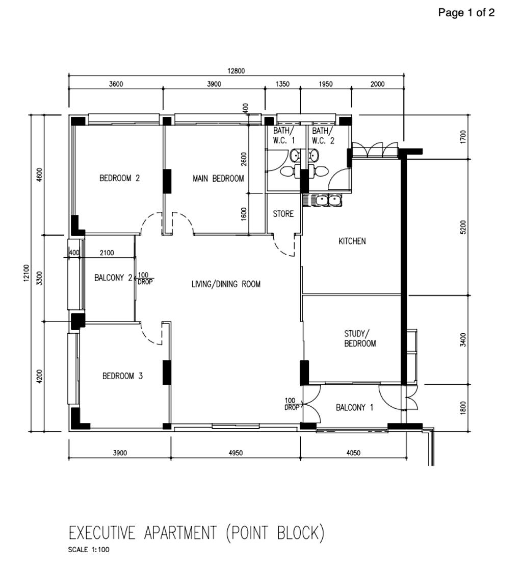 Scandinavian, HDB, Tampines Street 33, Interior Designer, The Interior Lab, Executive Apartment Hdb Floorplan, Executive Apartment Point Block, Original Floorplan