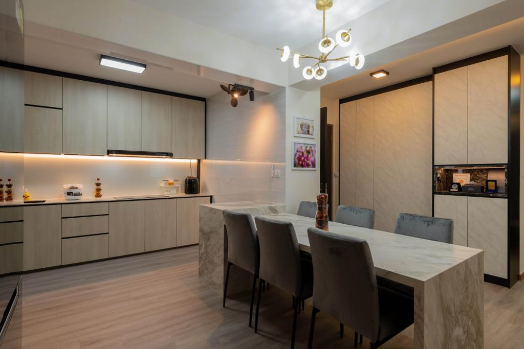Transitional, HDB, Kitchen, Northshore Drive, Interior Designer, Tab Gallery