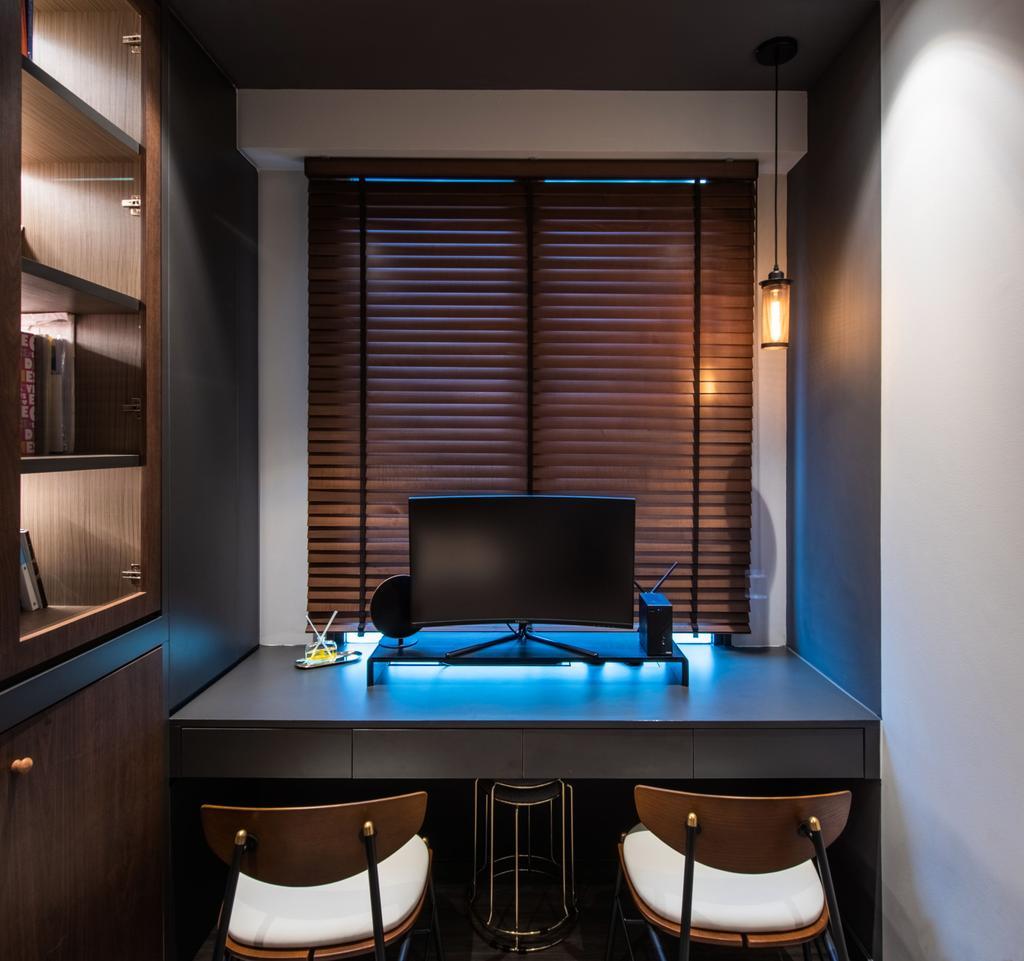 Contemporary, Condo, Study, Gem Residences, Interior Designer, Dyel Design