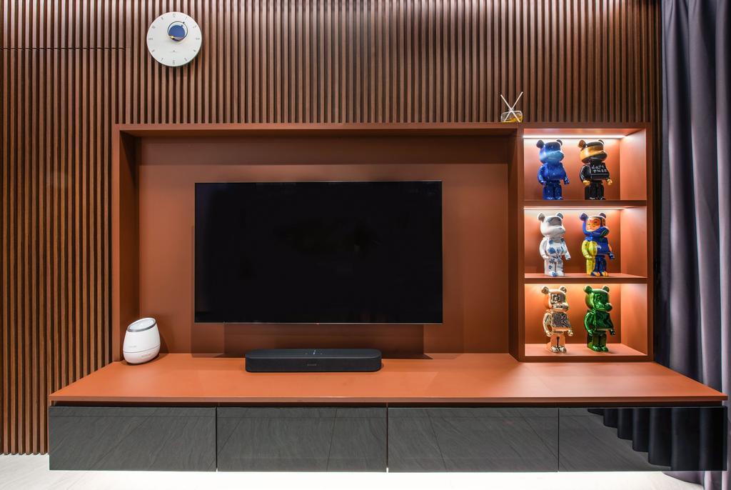 Contemporary, Condo, Living Room, Gem Residences, Interior Designer, Dyel Design