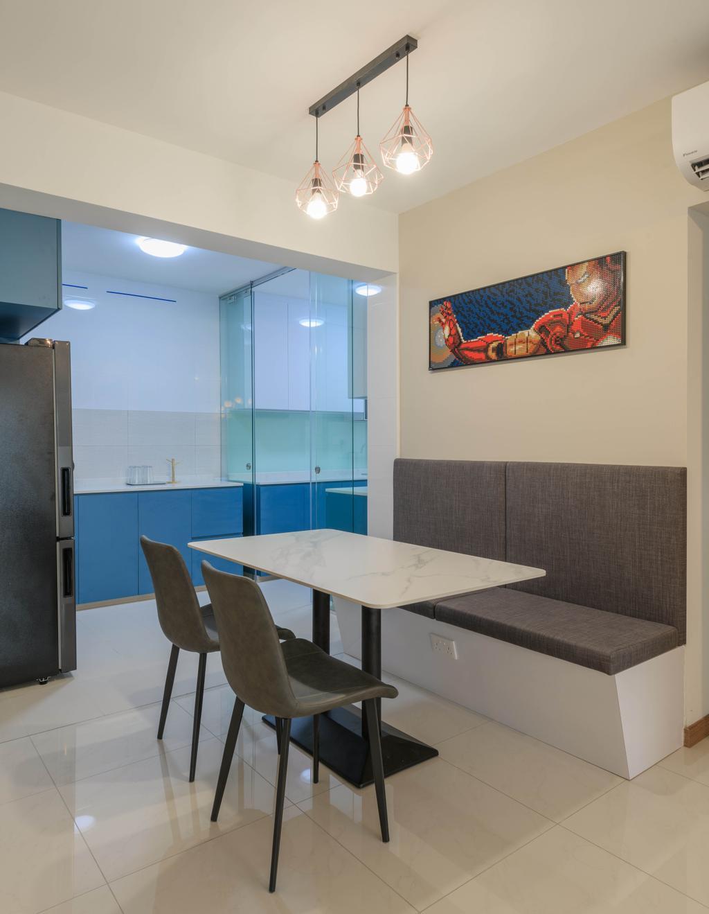 Contemporary, HDB, Dining Room, Tampines Street 62, Interior Designer, Design Story