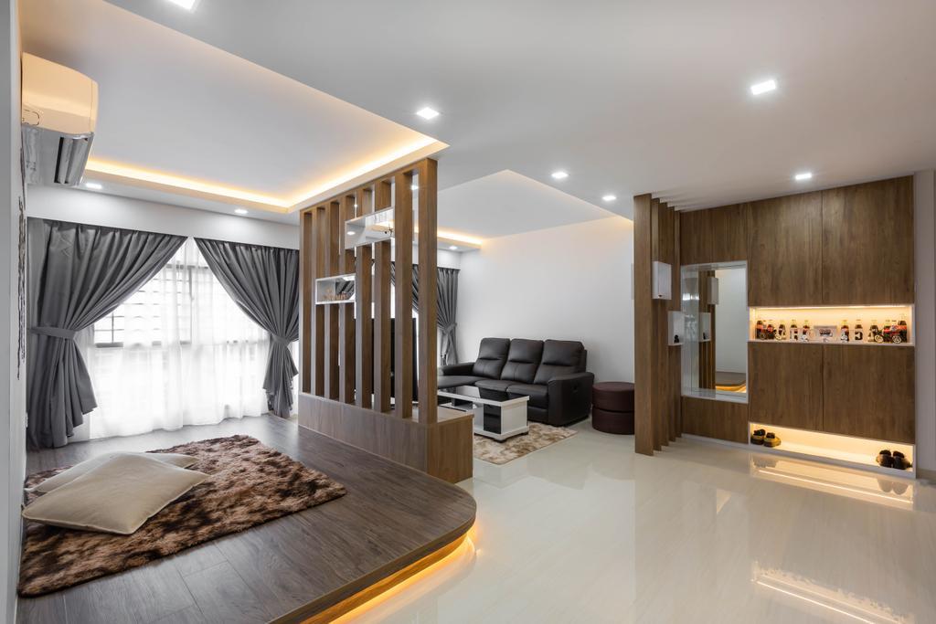 Contemporary, HDB, Living Room, Sumang Walk, Interior Designer, ID Gallery Interior
