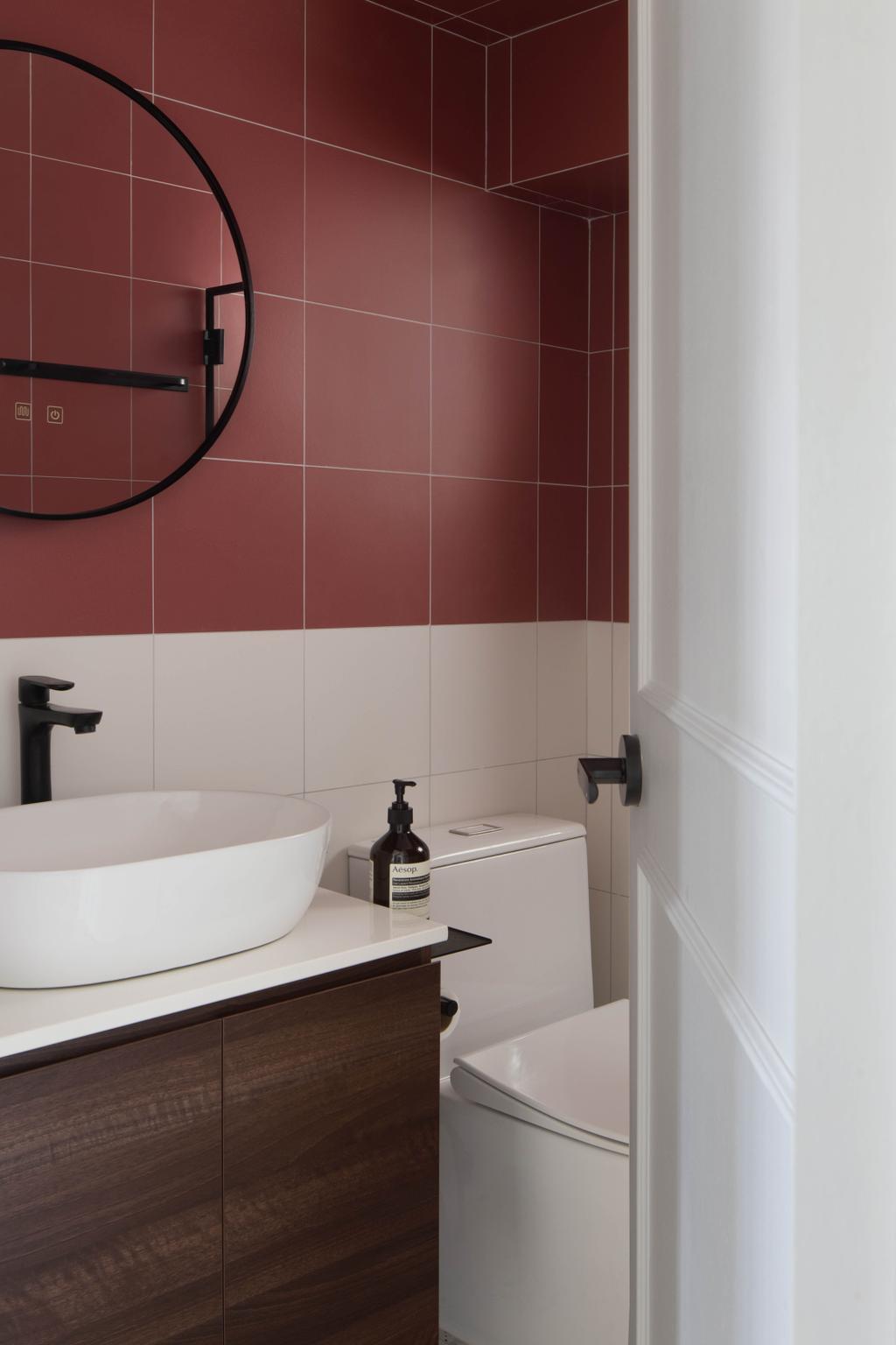 Scandinavian, HDB, Bathroom, Boon Tiong Road, Interior Designer, Ascend Design, Contemporary