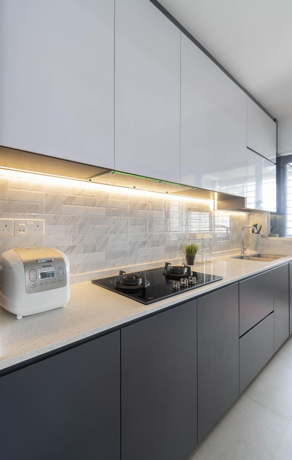 Contemporary, HDB, Kitchen, Ang Mo Kio Street 23, Interior Designer, Yang's Inspiration Design