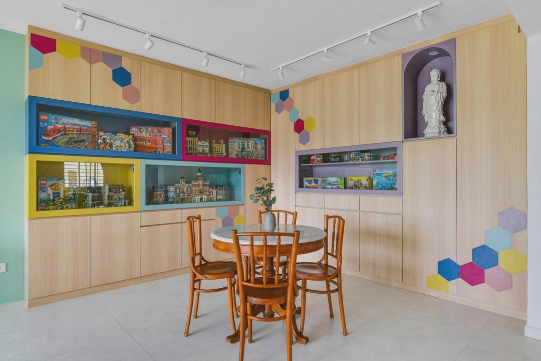 Bedok North Avenue 4, Urban Home Design 二本設計家, Contemporary, Eclectic, Dining Room, HDB, Altar