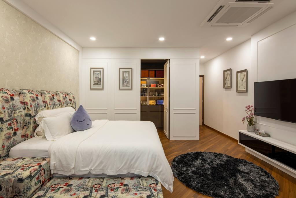 Contemporary, Landed, Bedroom, Yunnan Crescent, Interior Designer, Boon Siew D'sign, Transitional