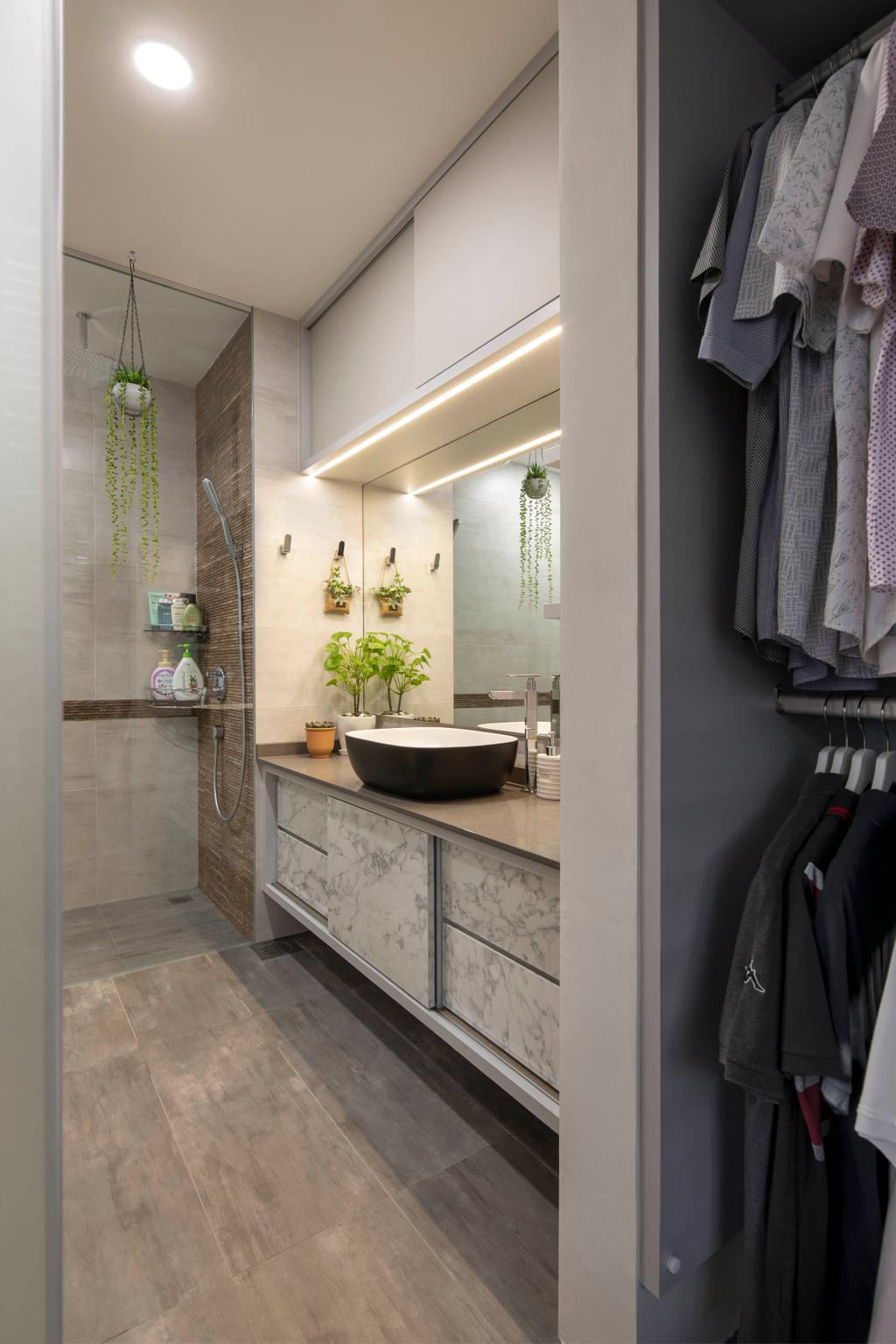 Contemporary, Landed, Bathroom, Yunnan Crescent, Interior Designer, Boon Siew D'sign, Transitional