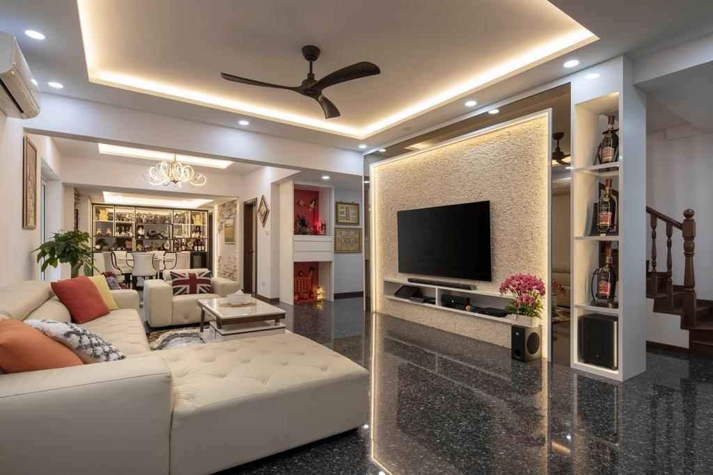 Contemporary, Landed, Living Room, Yunnan Crescent, Interior Designer, Boon Siew D'sign, Transitional