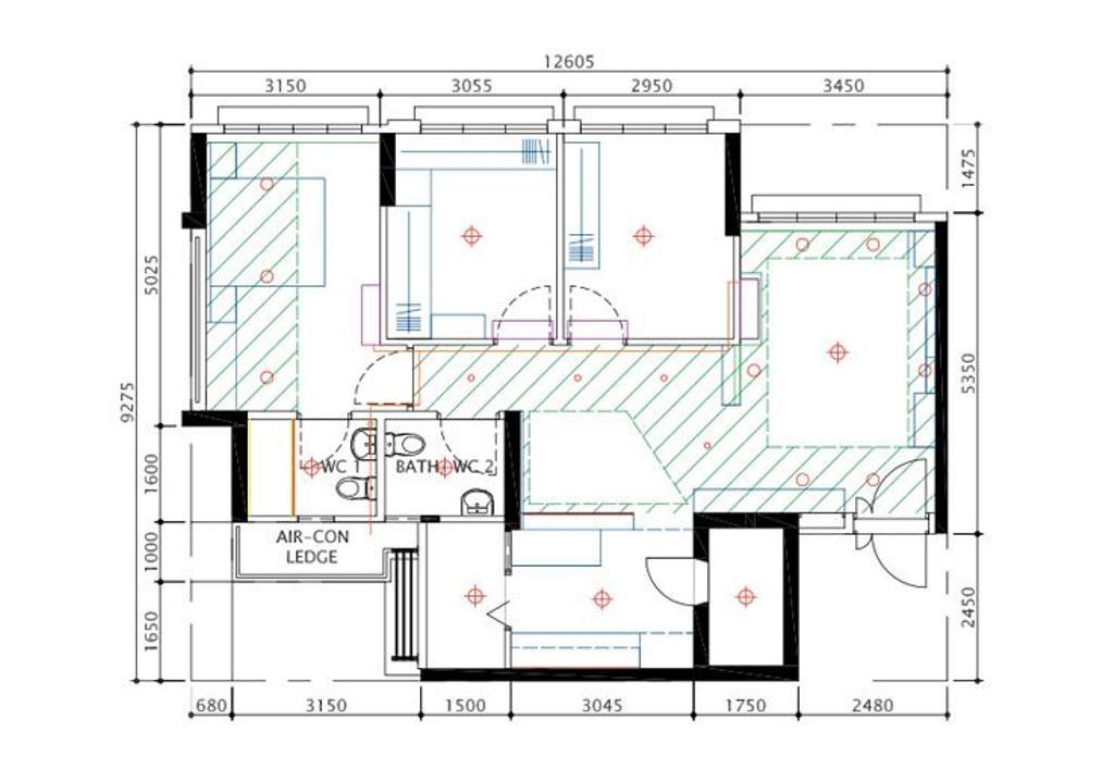 Contemporary, HDB, Buangkok Crescent, Interior Designer, Overhauled In. Design, 4 Room Hdb Floorplan, Final Flororplan
