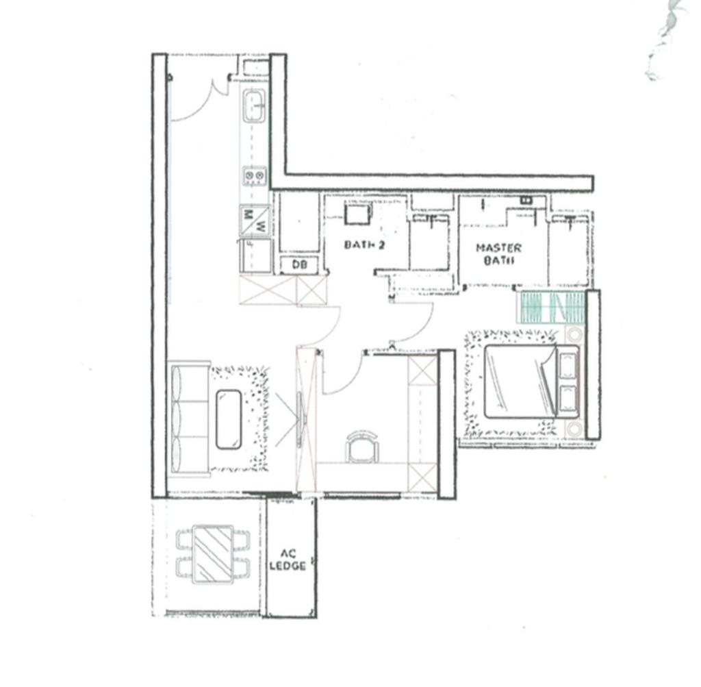 Contemporary, Condo, Gem Residences, Interior Designer, Dyel Design, 2 Bedder Condo Floorplan, Type Unit B 3, Final Floorplan