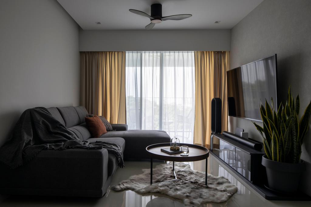Contemporary, HDB, Living Room, Yishun Avenue 11, Interior Designer, Parallelogram Design