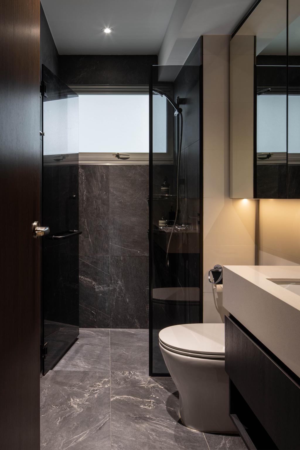 Contemporary, HDB, Bathroom, Bishan Street 24, Interior Designer, Parallelogram Design