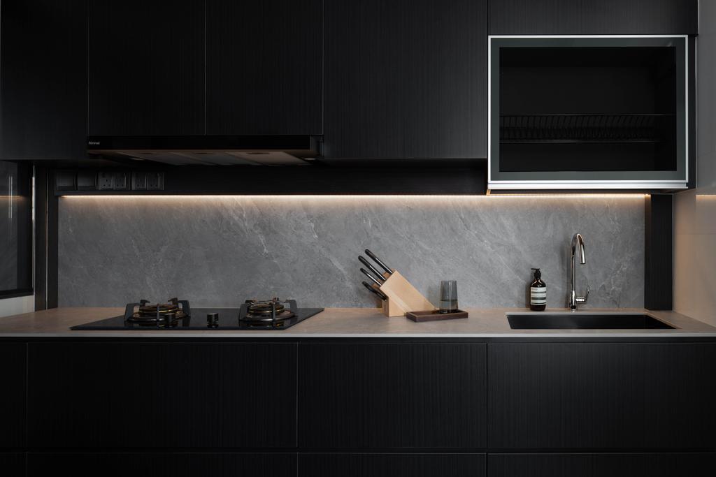 Contemporary, HDB, Kitchen, Bishan Street 24, Interior Designer, Parallelogram Design