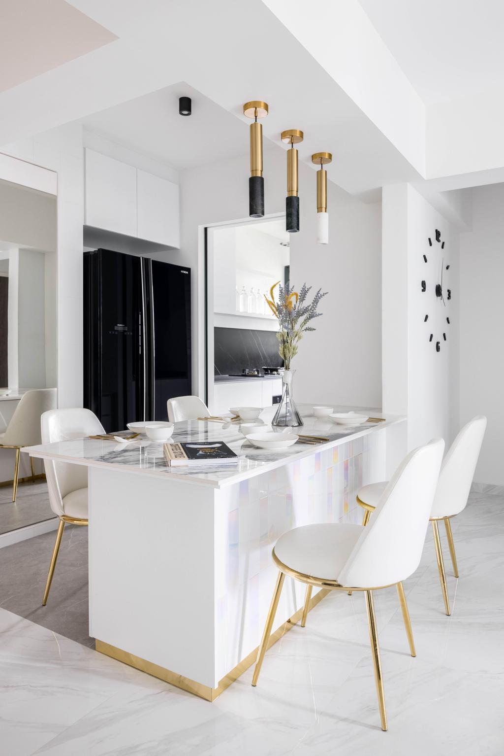 Contemporary, HDB, Dining Room, Bidadari Park Drive, Interior Designer, Parallelogram Design, Minimalist
