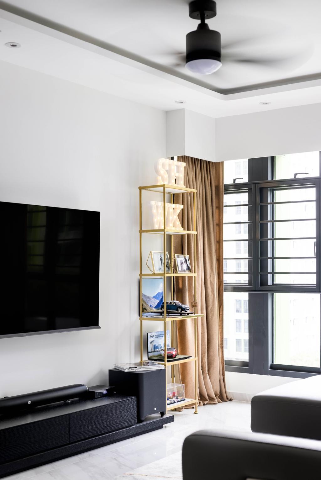Contemporary, HDB, Living Room, Bidadari Park Drive, Interior Designer, Parallelogram Design, Minimalist