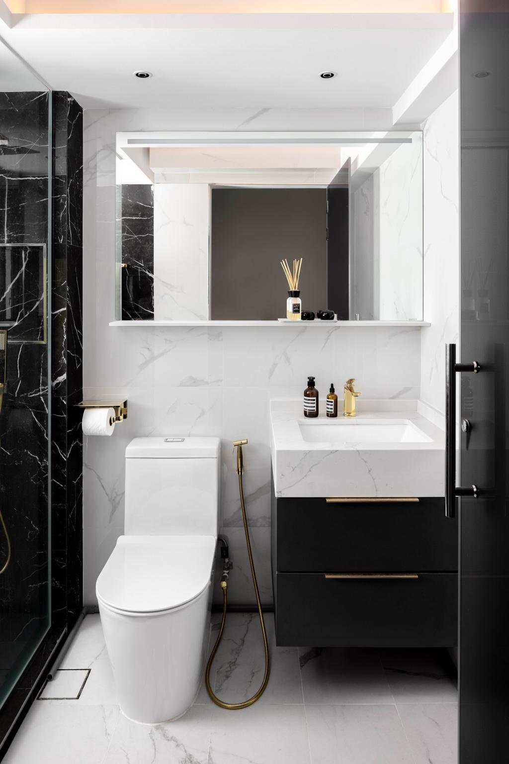 Contemporary, HDB, Bathroom, Bidadari Park Drive, Interior Designer, Parallelogram Design, Minimalist