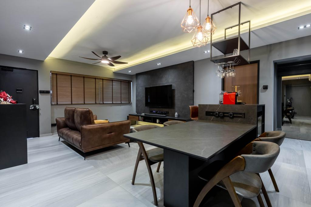 Contemporary, HDB, Dining Room, Tampines Street 22, Interior Designer, EA Interior Design, Scandinavian