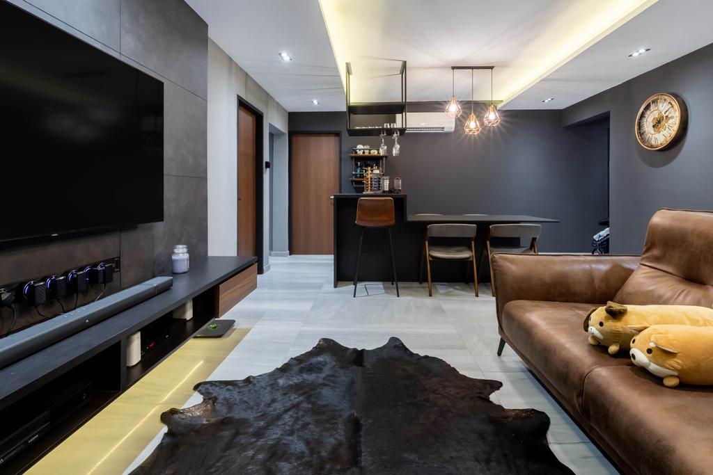 Contemporary, HDB, Living Room, Tampines Street 22, Interior Designer, EA Interior Design, Scandinavian