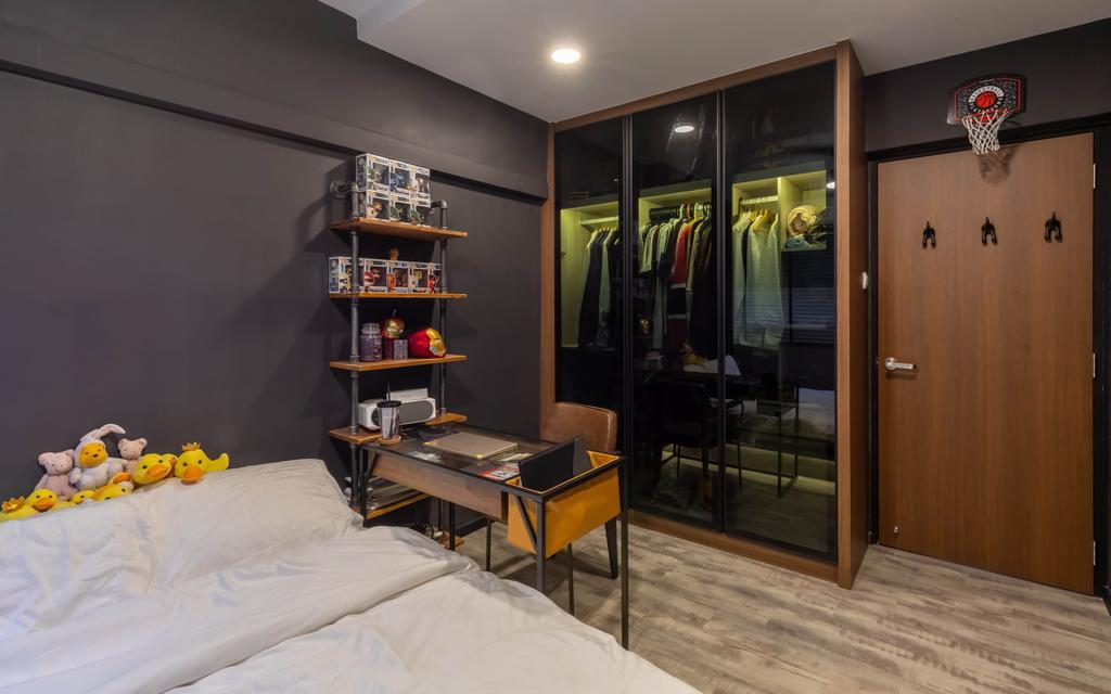 Contemporary, HDB, Bedroom, Tampines Street 22, Interior Designer, EA Interior Design, Scandinavian