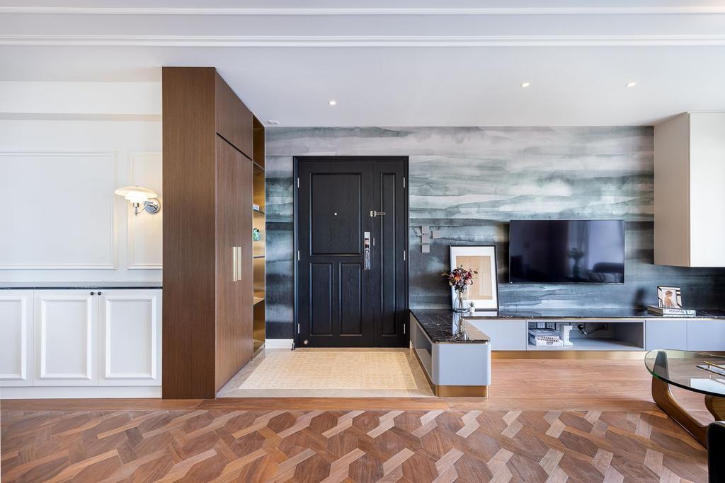 當代, 私家樓, 客廳, 宇晴軒, 室內設計師, am PLUS Designs Limited