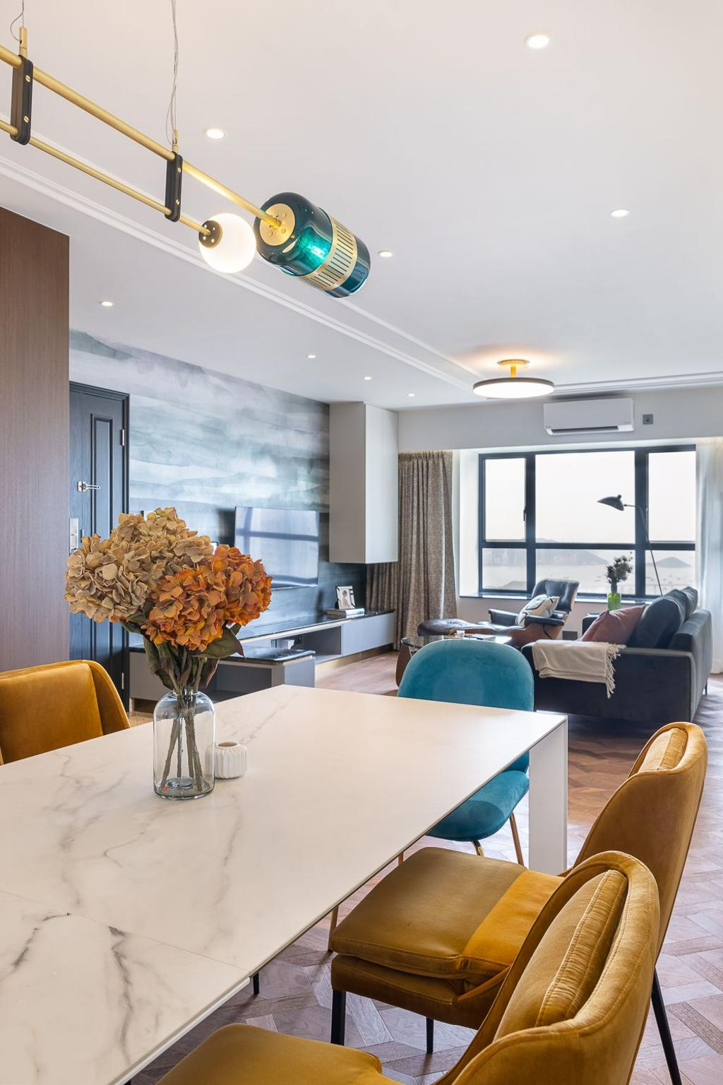 當代, 私家樓, 飯廳, 宇晴軒, 室內設計師, am PLUS Designs Limited