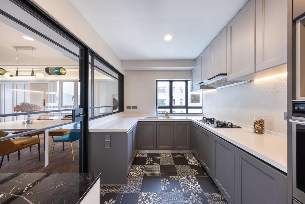 當代, 私家樓, 廚房, 宇晴軒, 室內設計師, am PLUS Designs Limited