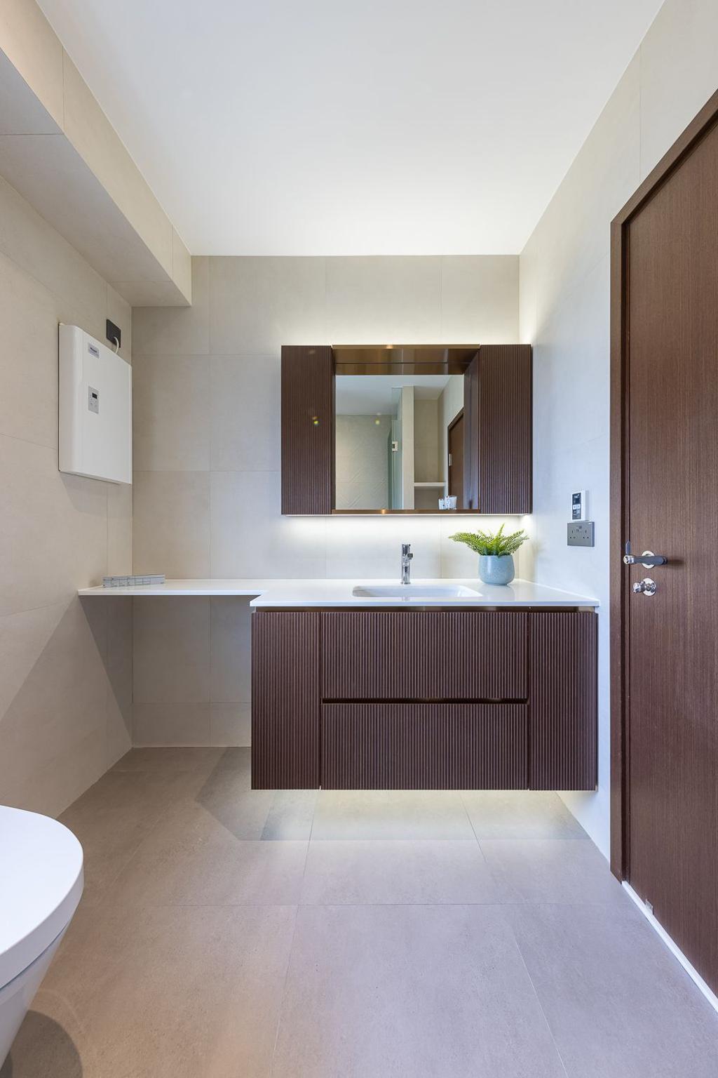 當代, 私家樓, 浴室, 宇晴軒, 室內設計師, am PLUS Designs Limited
