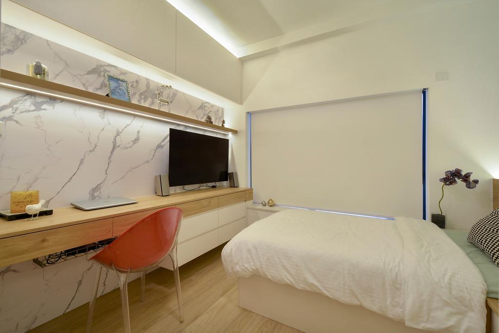 當代, 私家樓, 書房, 比華利山, 室內設計師, Space Design