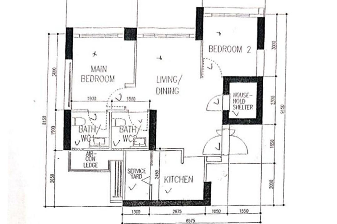 Skyparc @ Dawson, The Local Project, Scandinavian, HDB, 3 Room Hdb Floorplan, Original Floorplan