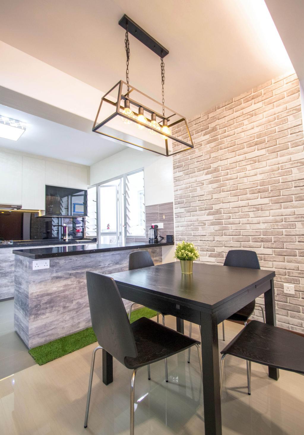 Contemporary, HDB, Dining Room, Woodlands Street 13, Interior Designer, Maxwell Interior Design