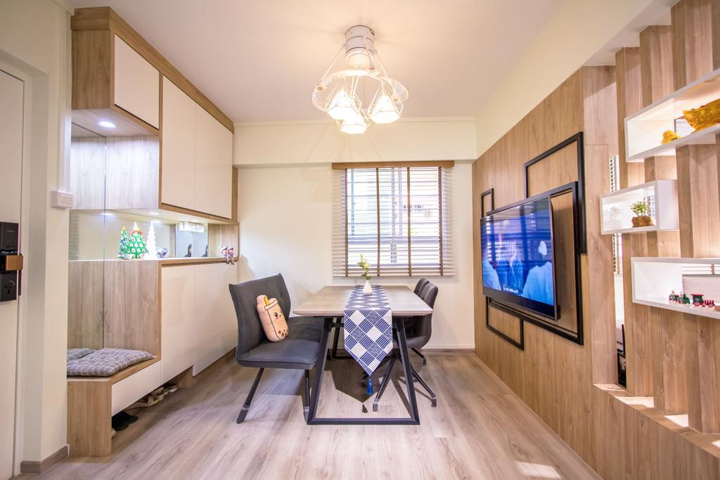 Contemporary, HDB, Dining Room, Tampines Central 1, Interior Designer, Maxwell Interior Design