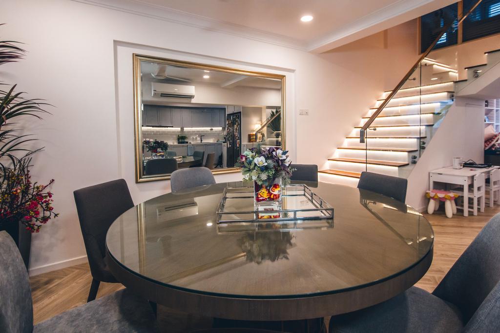 Contemporary, HDB, Dining Room, Bukit Batok Street 52, Interior Designer, Maxwell Interior Design