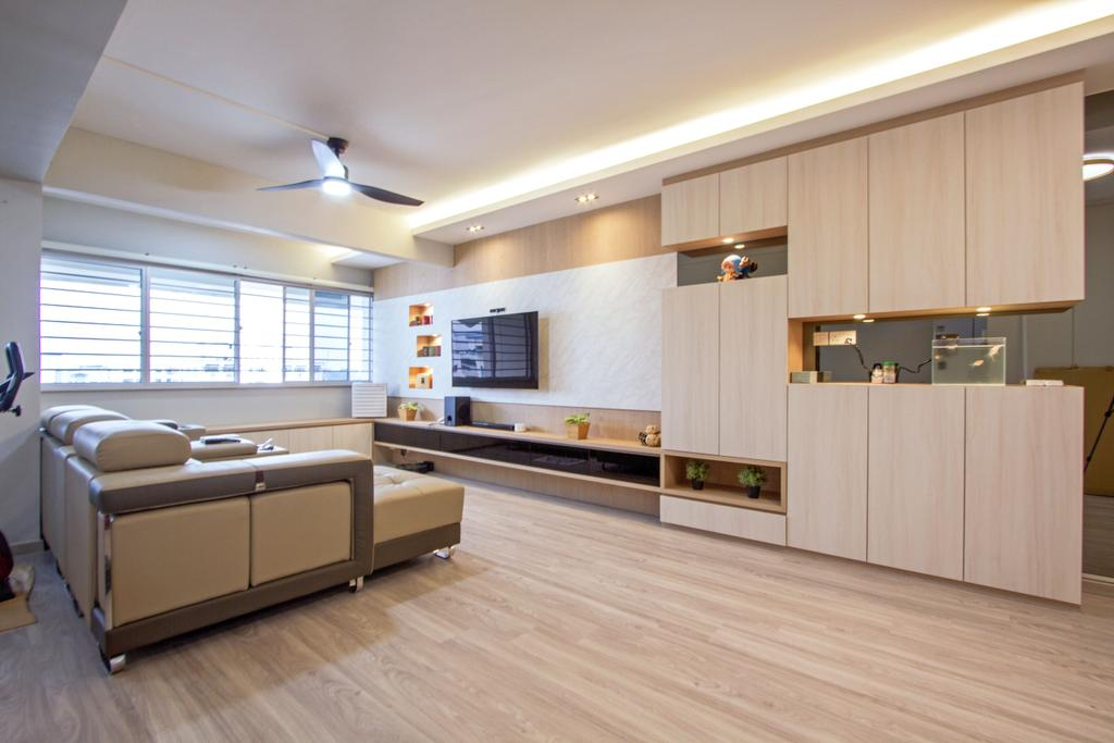 Contemporary, HDB, Living Room, Woodlands Crescent, Interior Designer, Maxwell Interior Design