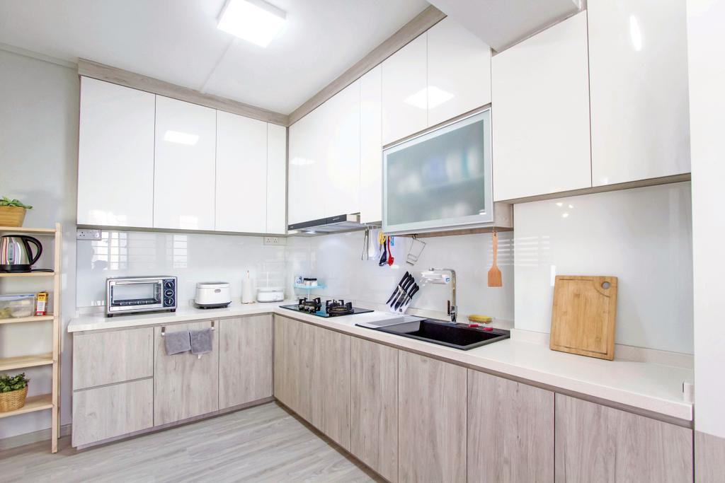 Contemporary, HDB, Kitchen, Woodlands Crescent, Interior Designer, Maxwell Interior Design