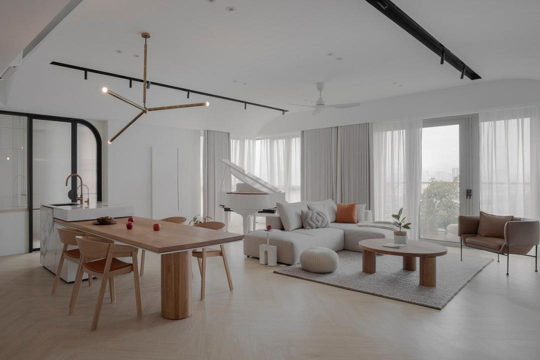 The Maple, Sentul KL, PINS Studio, Modern, Contemporary, Living Room, Condo