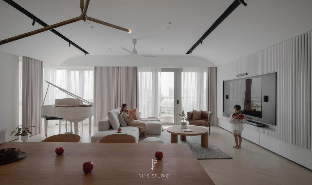 Modern, Condo, Living Room, The Maple, Sentul KL, Interior Designer, PINS Studio, Contemporary