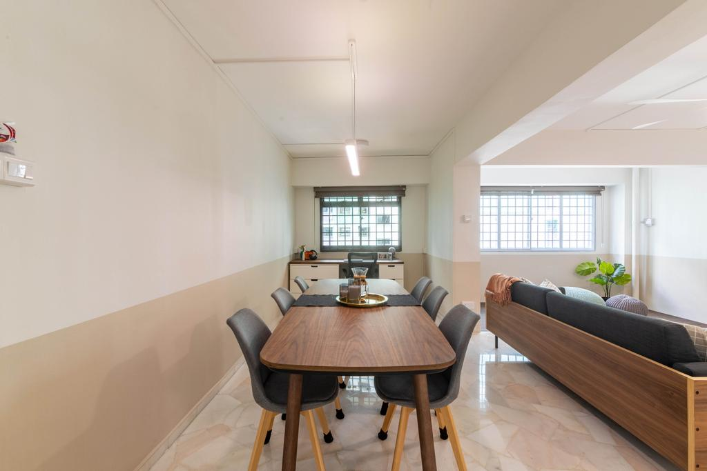 Contemporary, HDB, Dining Room, Sembawang Crescent, Interior Designer, Livspace