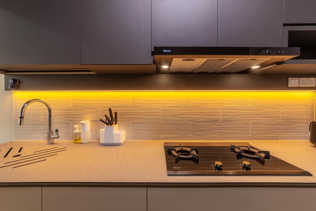 Contemporary, HDB, Kitchen, Sembawang Crescent, Interior Designer, Livspace