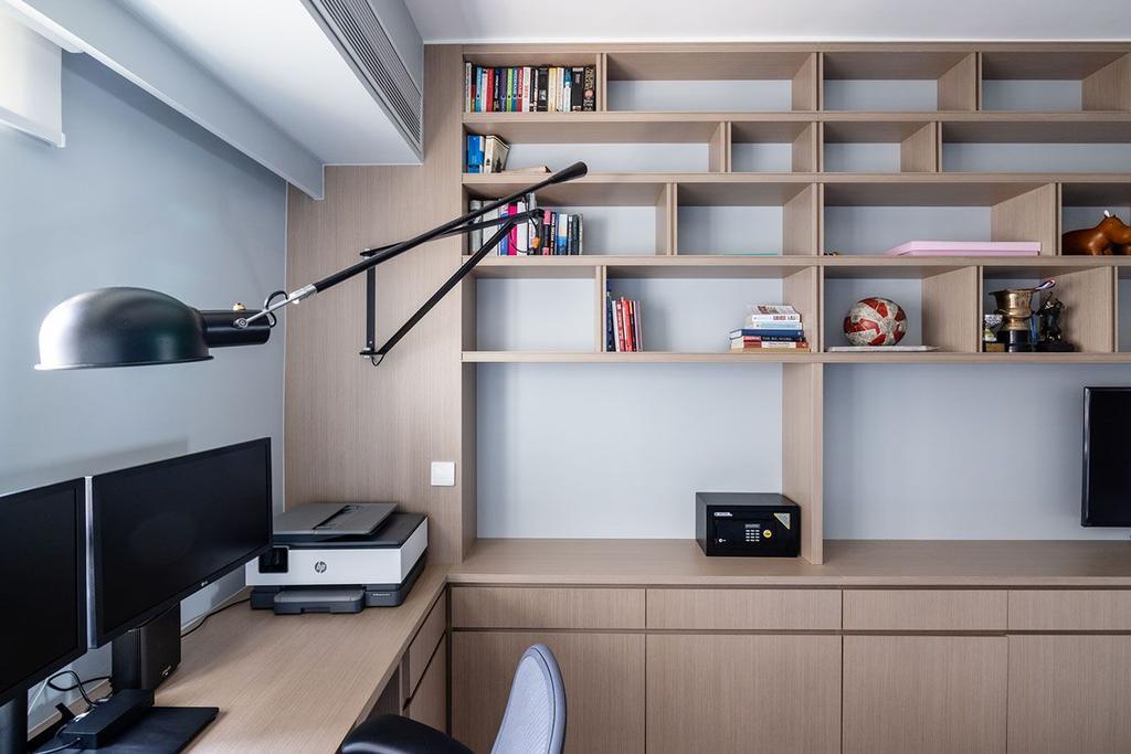 當代, 私家樓, 書房, 美景臺, 室內設計師, MAD Studio Limited