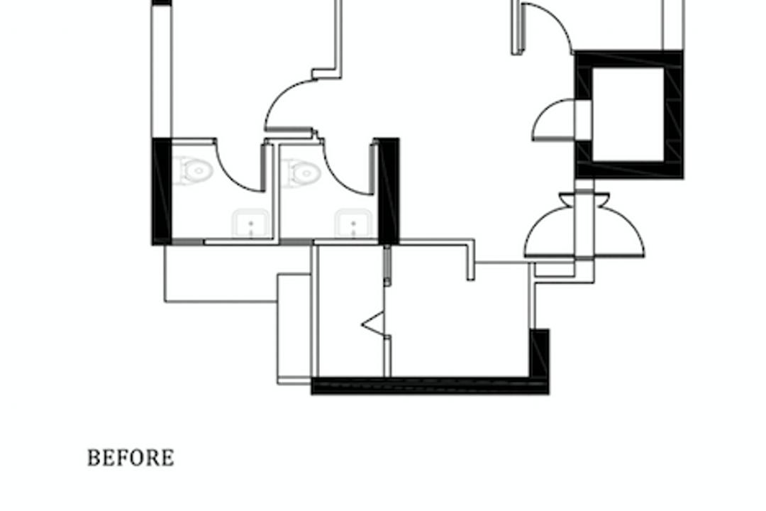 Skyparc @ Dawson, Parallelogram Design, Contemporary, HDB, 3 Room Hdb Floorplan, Original Floorplan