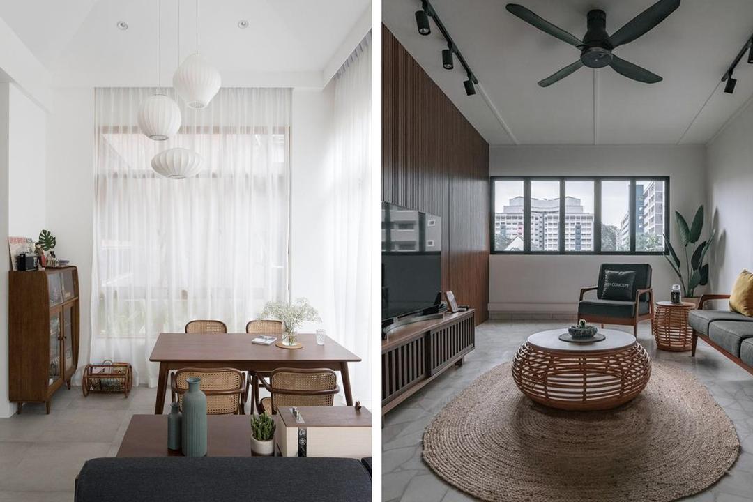 mid-century modern designers singapore HDB flat