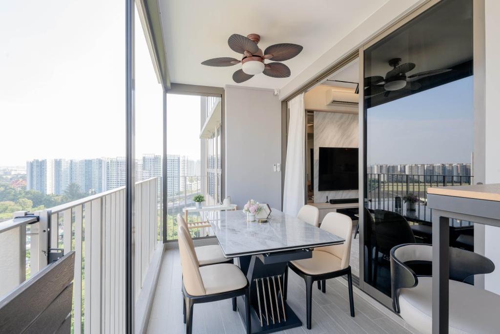 Contemporary, Condo, Balcony, Rivercove Residences, Interior Designer, Dyel Design