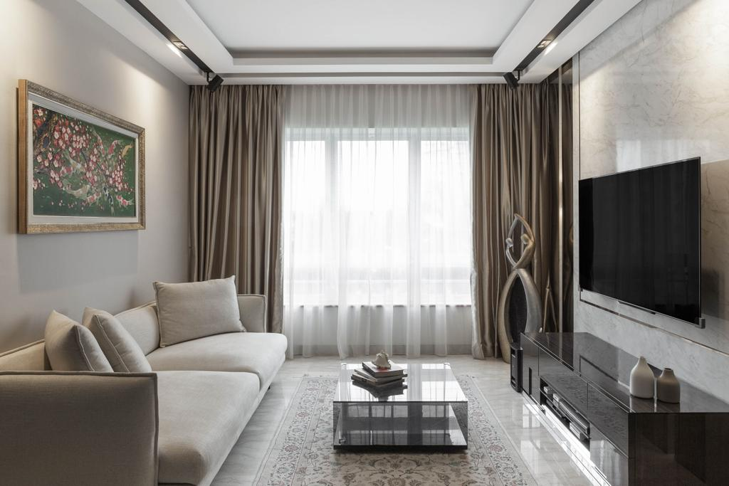 Modern, Condo, Living Room, The Tropica, Interior Designer, Le Interior Affairs, Contemporary