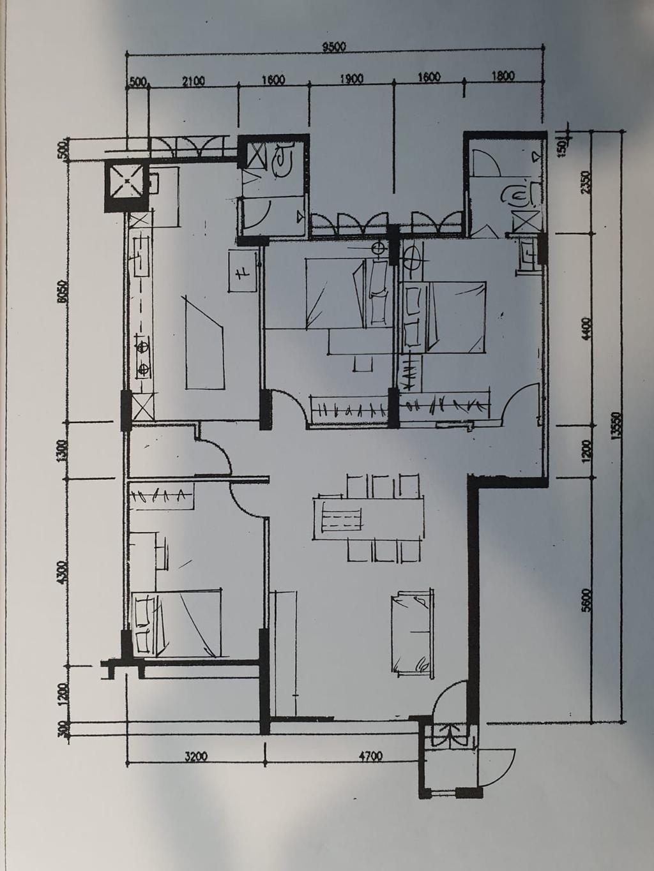 Contemporary, HDB, Tampines Street 22, Interior Designer, EA Interior Design, Scandinavian, 4 Room Hdb Floorplan, Final Floorplan