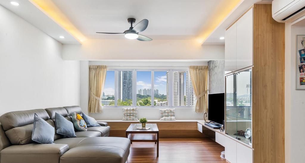 Contemporary, HDB, Living Room, Mei Ling Street, Interior Designer, ID Gallery Interior