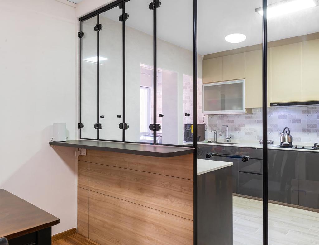 Contemporary, HDB, Kitchen, Mei Ling Street, Interior Designer, ID Gallery Interior