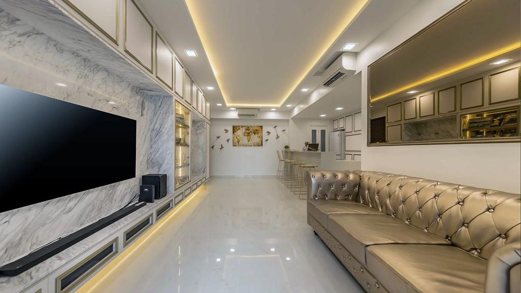 Contemporary, HDB, Living Room, Yishun Street, Interior Designer, ID Gallery Interior