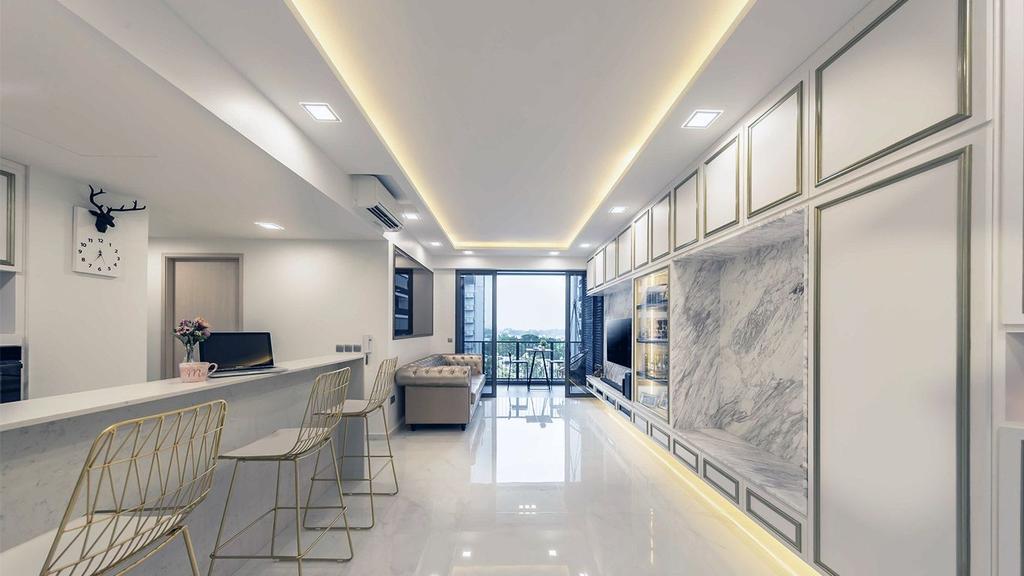 Contemporary, HDB, Dining Room, Yishun Street, Interior Designer, ID Gallery Interior
